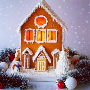 Božićna kućica od medenjaka